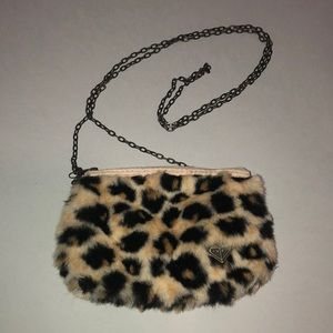 Roxy Mini Crossbody Bag Faux Fur Leopard